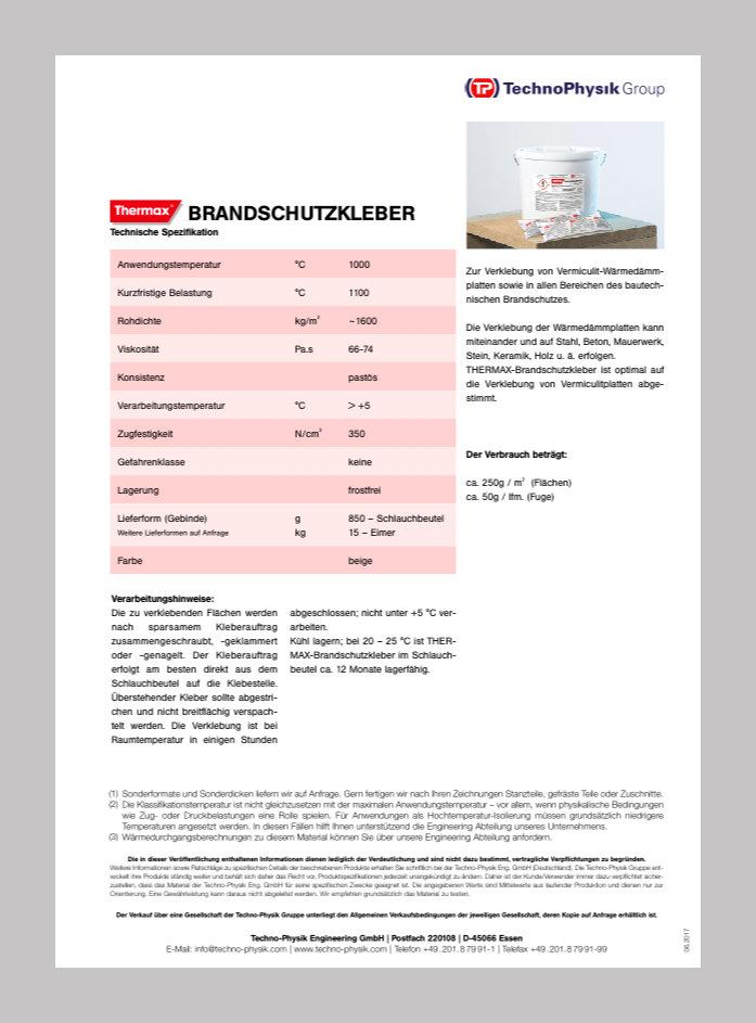 THERMAX_Brandschutzkleber