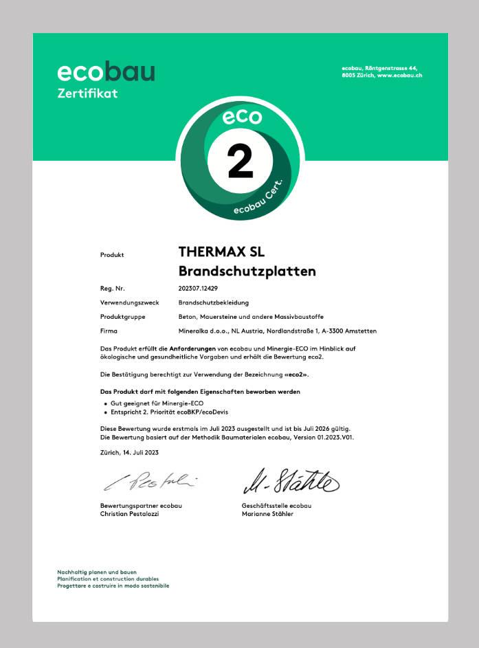ecoBau-Zertifikat